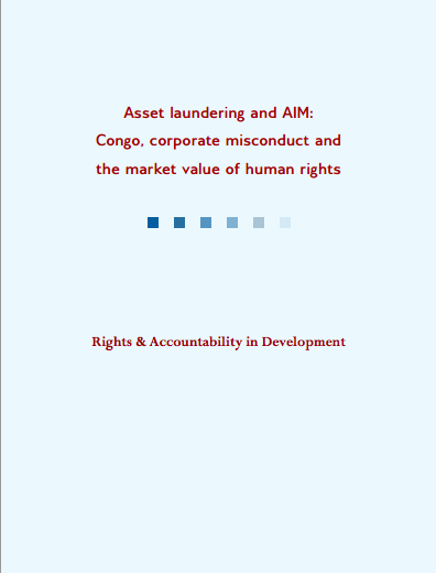 Asset Laundering and AIM - cover