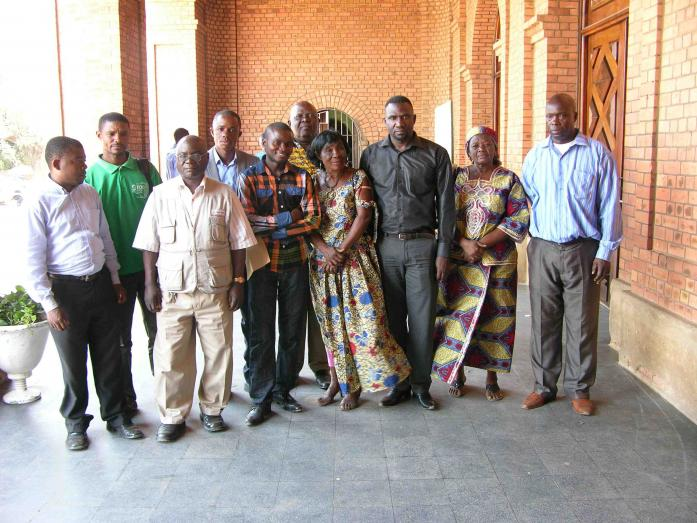 Kilwa victims' supporters, October 2013