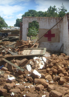 Destroyed pharmacy, Kawama, Dec 2009